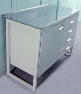 Стол лабораторный для чистых помещений с подвесной тумбой - NordLine