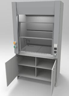 Вытяжной шкаф 1200 мм, серия NordLine - СпецЛабМебель