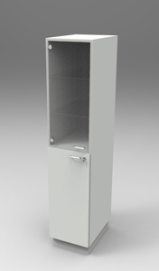 Шкаф лабораторный для химпосуды 400, лев.двери. Серия NordStyle.