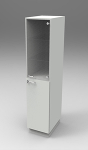 Шкаф лабораторный для химпосуды 400, прав.двери. Серия NordStyle.