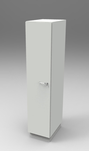 Шкаф лабораторный для одежды 400, лев.дверь. Серия NordStyle.