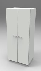Шкаф лабораторный для одежды 800, две двери. Серия NordStyle.