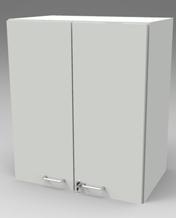 Шкаф лабораторный навесной, метал.двери. Серия NordStyle.