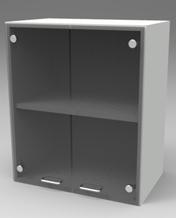 Шкаф лабораторный навесной, стекл.двери. Серия NordStyle.