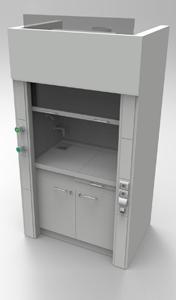 Шкаф вытяжнной NordStyle 1200 со сливной раковиной, водяным и газовым выпусками и