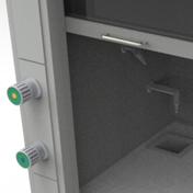 Шкаф вытяжной NordStyle - Вентили и выпуски для воды и газа
