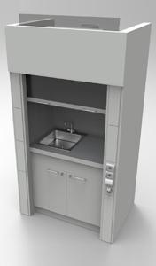 Шкаф вытяжнной NordStyle 1200 с мойкой