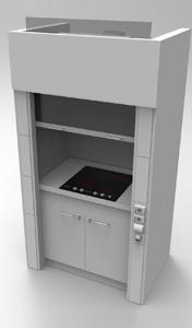 Шкаф вытяжнной NordStyle 1200 с варочной панелью