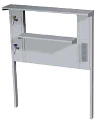 Стойка технологическая для пристенных столов - Лабораторная мебель NordStyle